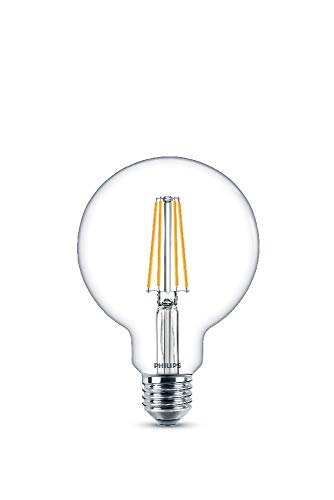 Philips Lighting Ampoule LED Globe E27 Filament 7W Equivalent 60W Claire Blanc chaud