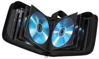Hama CD Tasche für 40 Discs / CD / DVD / Blu-ray (Mappe zur Aufbewahrung , platzsparend für Auto und Zuhause, Transport-Hüllen) Schwarz