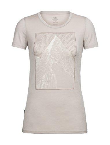 Icebreaker Tech Lite - Camiseta de Manga Corta para Mujer, Mujer, Primeras Capas, 104155101S, Pómez, S