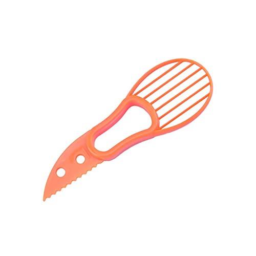 Shulcom Accesorios para Herramientas Vegetales de Cocina rebanador de Aguacate pelador de Manteca de karité Verde Cortador de Pulpa Separador de Pulpa Cuchillo de plástico
