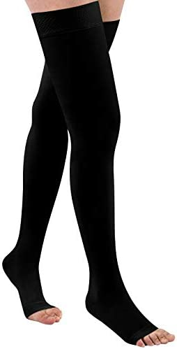 Thigh High 20 32 mmHg Compression Stocking Toeless Compression Socks for women men circulation product image
