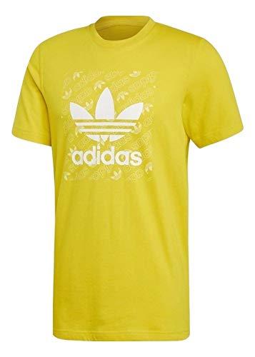 adidas Hombre Mono Square tee Camisetas Amarillo, S