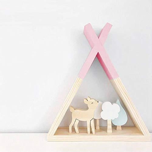 Keukenrek van hout voor de keuken, plank, voor kinderkamer model, wanddecoratie (wit)