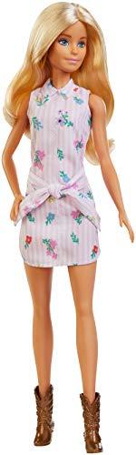 Barbie - Fashionista Muñeca Rubia con Vestido de Flores (Mattel FXL52) , color/modelo surtido