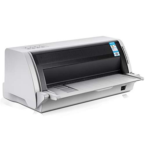WLLIT Imprimante Stylet, Fournitures de Bureau, Facture, imprimante de Documents, imprimante de câble USB A3 à Grande Vitesse et à Colonne Verticale, 110 colonnes-White