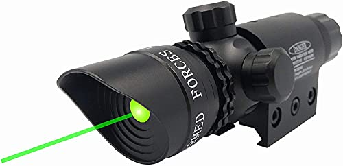 StrongTools Waterproof Green Dot Laser Sight Adjustable Sight for Rifles & Shotguns with Mounts and Cable Press Switch