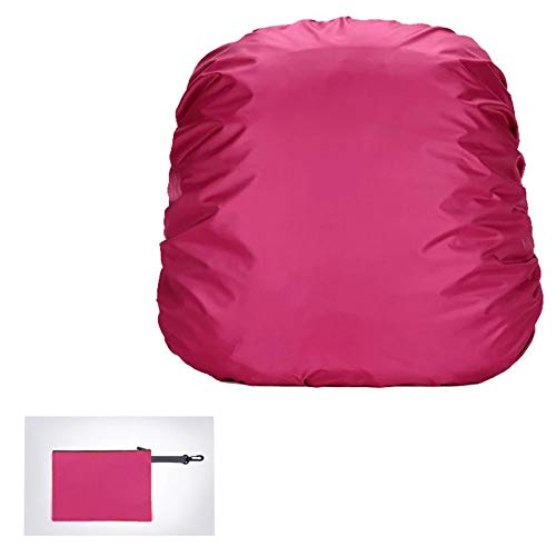 YIYIHOME Rain Cover, Outdoor Rainproof Dust Cover Mountaineering Backpack, Plus Zipper Storage Bag, Backpack Rain Cover Mountaineering Camping Waterproof,magenta,70L