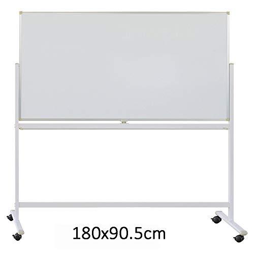 Tableau Blanc magnétique Double Face magnétique Mobile Tableau Blanc Tableau Blanc Portable Stand 360 ° Rotating Double Face Dry Erase Board Whiteboard pour Bureau