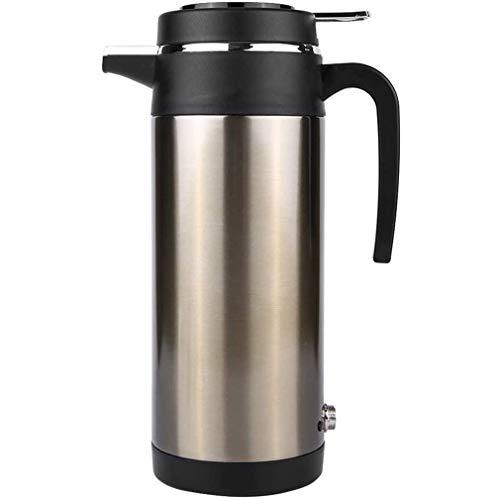 HermosaUKnight Auto-Wasserkocher Universal-Reiseheizung Wasserflaschenwärmer Edelstahl Lebensmittelqualität Trinkbecher (Gold + Schwarz)