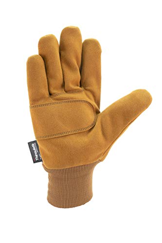 Carhartt Men's Insulated System 5 Suede Work Glove with Knit Cuff, Brown, X-Large