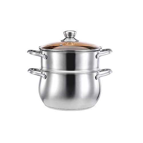 Find Bargain 304 stainless steel pot, with lid stockpot, risotto, porridge, transparent glass lid, m...