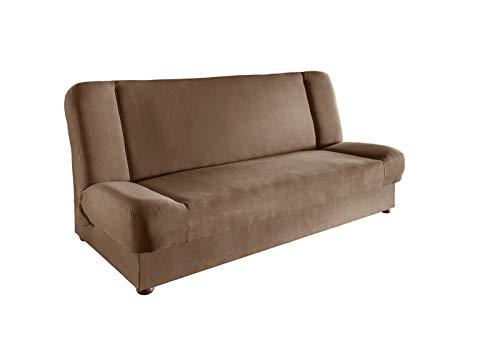 lifestyle4living Schlafsofa in Braun | Sofa mit Bettkasten | Funktionssofa mit Federkern-Polsterung