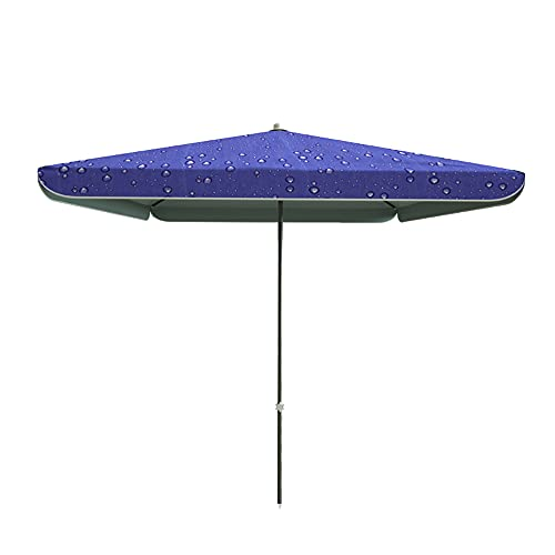 LKP Parasol Patio De Jardín 280x220cm, Parasol De Exterior Rectangular, Parasol De Terraza Proteccion UV, Sombrilla Playa para Balcón (Azul)
