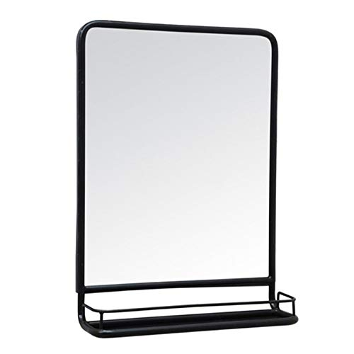 Y&J Rectangle Mirror with Shelf, Wall Mirror Bathroom, Decorative Makeup Mirror, for -