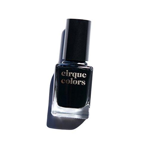 Cirque Colors Creme Nail Polish - Memento Mori - Best Black - 0.37 fl. oz. (11 ml) - Vegan, Cruelty-Free,...