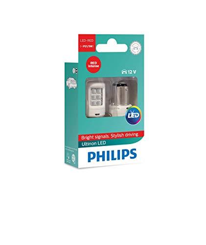 Philips 11499ULRX2 LED Lampadina di Segnalazione per Auto (P21/5W Red), Rosso, Set di 2