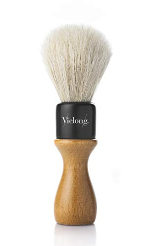 Vie-Long Long Handled Horse Hair Shaving Brush