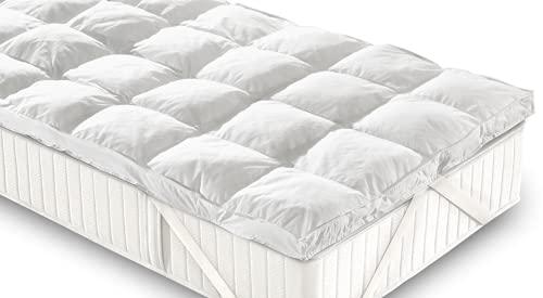 Casatex   Topper Bed Singolo – Coprimaterasso Trapuntato e Soffice in Microsfere. Traspirante e Anallergico, corregge i difetti del Materasso