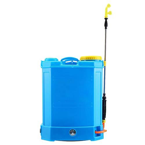 Cordless Garden Sprayer, High Pressure Double Pump Backpack Sprayer with Stainless Steel Rod 16 Litre Sprayer Knapsack