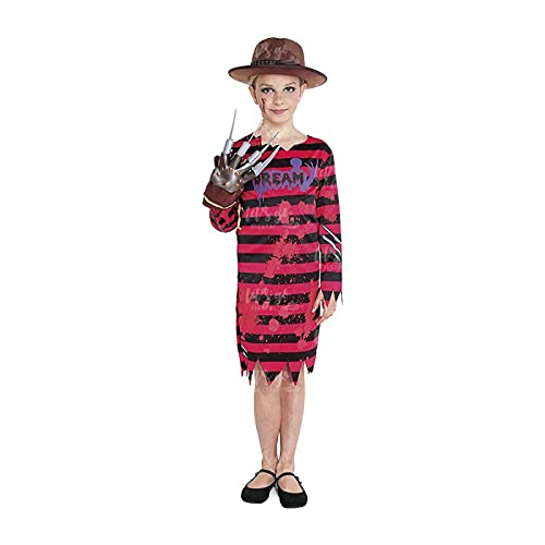 Partilandia Disfraz Dream Killer Niña【Tallas Infantiles 3 a 12 años】[Talla 10-12 años]【Vestido Rayas】 Disfraces Halloween Niña Cosplay