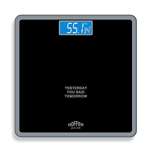 Hoffen HO-18 Digital Electronic LCD Personal Body Fitness Weighing Scale (Black)