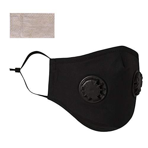 Katurn Einweg Masken, Staubmaske, Staubschutzfilter Masken, Wiederverwendbare Maske Mit Doppelventil Sonnenschutz Gesicht Mund Nase Abdeckung Zum Reiten Laufen Im Freien