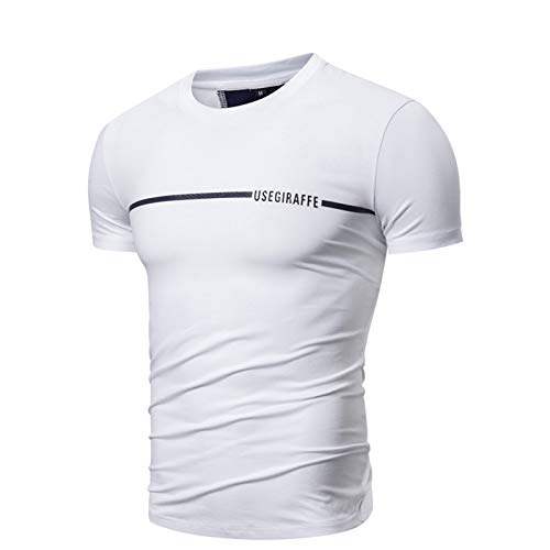 SSBZYES Camiseta para Hombre Camiseta De Verano De Manga Corta para Hombre Camiseta De Cuello Redondo para Hombre Camiseta De Color Sólido Estampado De Letras Bordado Camiseta Casual De Manga Corta