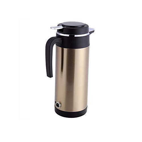 SHYOD 1200 ml 24 V taza de calefacción eléctrica para coche encendedor de cigarrillos para vehículo hervidor de agua con calefacción botella de agua uso de viaje acero inoxidable