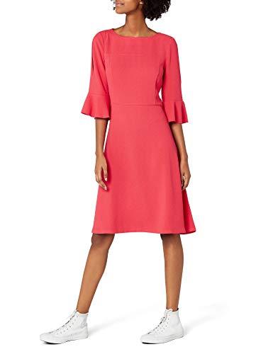 edc by ESPRIT Damen 028CC1E009 Kleid, Rot (Coral Red 640), 36