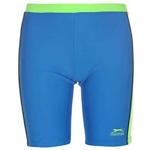 Slazenger Kinder Jungen Jammers Knielange Badehose Schwimmhose Logo Blau/Marineblau/Grün 7-8 Jahre S