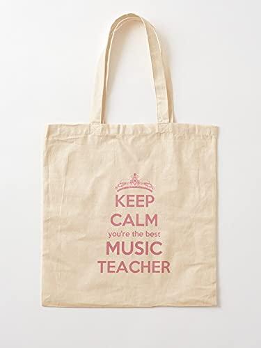 Générique Skins Music Quotes Tablet Teacher Cases   Bolsas de lona con asas, de algodón duradero
