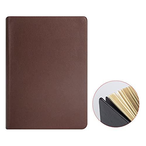 AHYMZ Diario de 300 páginas grueso de 700 páginas clásico retro de cuero artificial cuaderno de notas diario pequeño para hombres y mujeres (color: marrón, tamaño: A5)