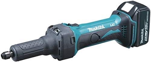 Makita Akku-Geradschleifer 18 V / 5,0 Ah, 2 Akkus und Ladegerät im MAKPAC, DGD800RTJ