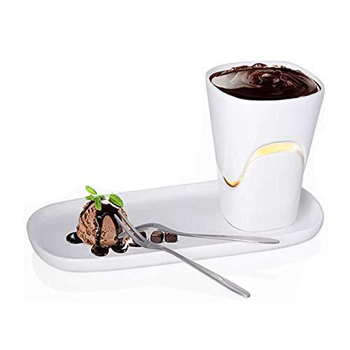 N / B Mini-Schokoladen-Fondue-Tasse-Set Käse-Topf, servierender heißer Topf, hohe Temperatur, die 120 ml große Kapazität handgefertigt, geeignet für Käseeis und andere Desserts geeignet