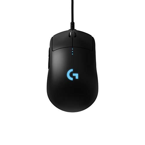 Logitech G PRO Wireless Gaming Mouse, HERO 16K Sensor, 16000 DPI, RGB, Ultra Lightweight, 4 - 8 Programmable Buttons, Long Battery Life, On-Board Memory, Built for esport, PC/Mac - Black (German Pack)