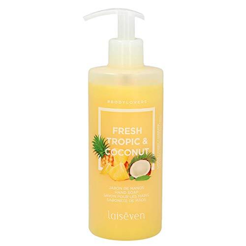 LAISEVEN jabón líquido de manos coco y piña dosificador 400 ml