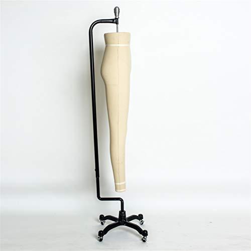 HWF Maniqui Costura Modista Maniquí de Costura Forma de Pierna de Pantalones Femeninos, Modistas Simuladas Exhibición del Maniquí de Los Estudiantes de Moda con Ruedas (Color : White, Size : Model 2)