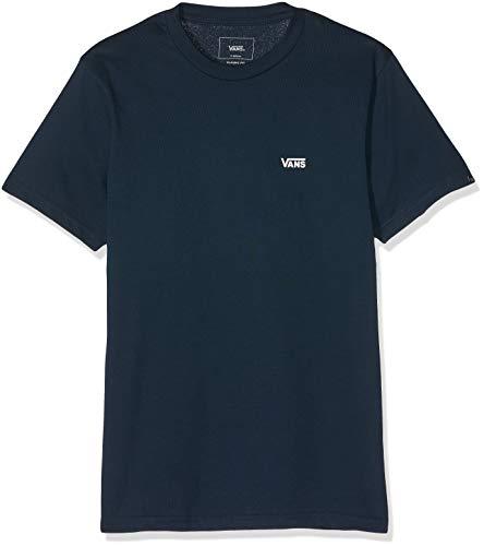 Vans Left Chest Logo Tee T-Shirt, Blu (Navy-White Blue Navy), Large Uomo