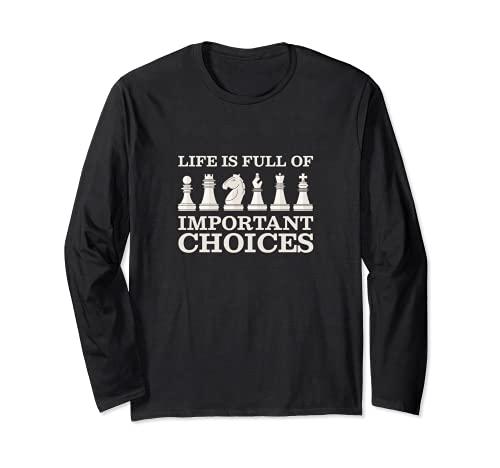 チェスは重要な選択でいっぱい 長袖Tシャツ