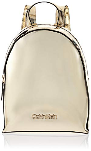 Calvin Klein - Ck Must Psp20 Sml Backpack M, Bolsos totes Mujer, Dorado (Champagne), 0.1x0.1x0.1 cm (W x H L)
