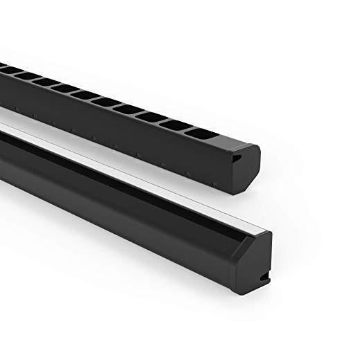 Habengut Untertisch-Kabelführung aus PVC Schwarz, für das Kabelmanagement am Schreibtisch - Länge 1,16 m