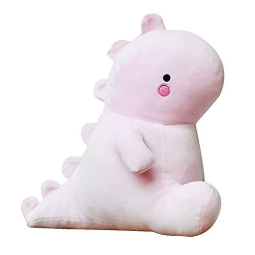 Meriglare Dinosaurus schattig kussen, poppenkussen, pluche speelgoed, decoratie voor auto, bed, autostoel, bureaustoel - roze