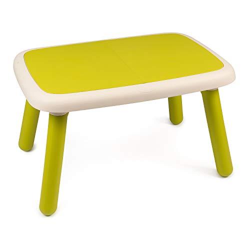 Smoby - Kid Tisch Grün – Design Kindertisch für Kinder ab 18 Monaten, für Innen und Außen, Kunststoff, ideal für Garten, Terrasse, Kinderzimmer
