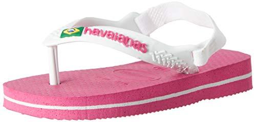 Havaianas Baby Brasil Logo II, Infradito Unisex Bambini, Rosa (Hollywood Rose), 20