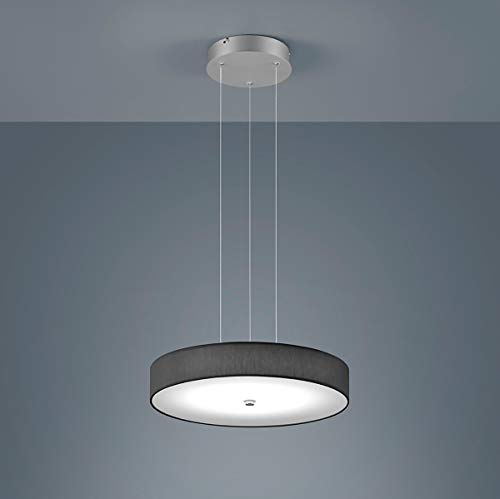 Bora LED Pendelleuchte Ø45cm, anthrazit Schirm Chintz Gestell mattnickel eloxiert 2800K 3300lm