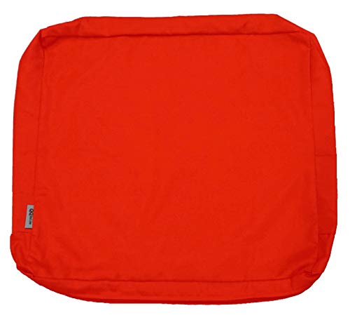 QQbed 4 Pack Outdoor Patio Chair Washable Cushion Pillow Seat Covers Extra Large 24'X22'X4' - Replacement Covers Only (24'X22'X4' 4 Pack, Tango)
