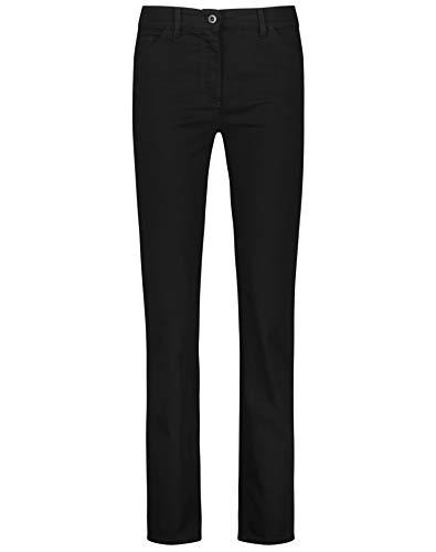 Preisvergleich Produktbild Gerry Weber Damen 5-Pocket Jeans Straight Fit Kurzgröße Klassische Passform Black Black Denim 38S