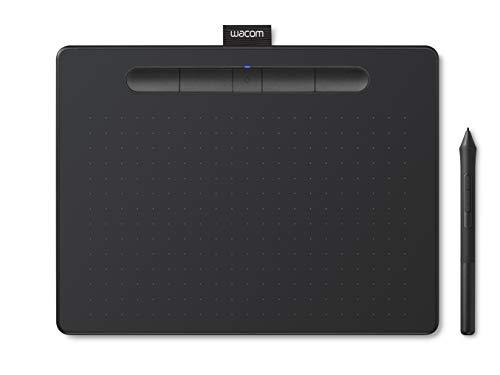 【Amazon.co.jp限定】ワコム ペンタブレット Wacom Intuos Mediumワイヤレス クリスタ付き 黒 Androidにも対応 データ特典付き TCTL6100WL/K0