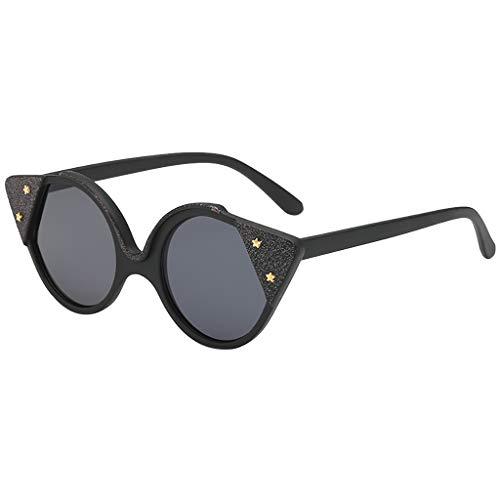 LABIUO Erwachsene Sonnenbrillen Mode Vintage Retro Style Design Polarisierte Sonnenbrillen Kunststoff Unregelmäßigen Rahmen Shades UV Schutz Brillen Sonnenbrillen(D,freie Größe)