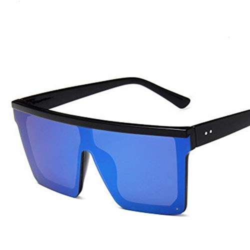 Gafas de Sol cuadradas Mujeres de Lujo de Lujo diseño Vintage Gafas de Sol Espejo Rojo púrpura Eyewear UV400 (Color Name : Blue)